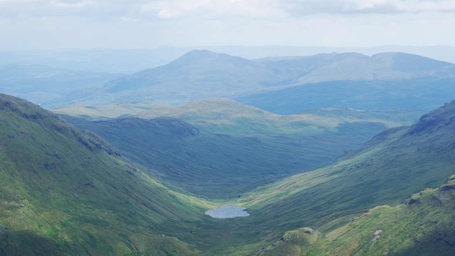 Looking south east from Beinn 'a Chroin.