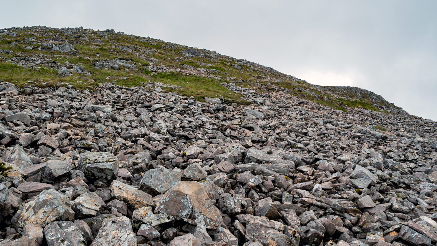 "The ""path"" up Stob Ghabhar (1090m)."