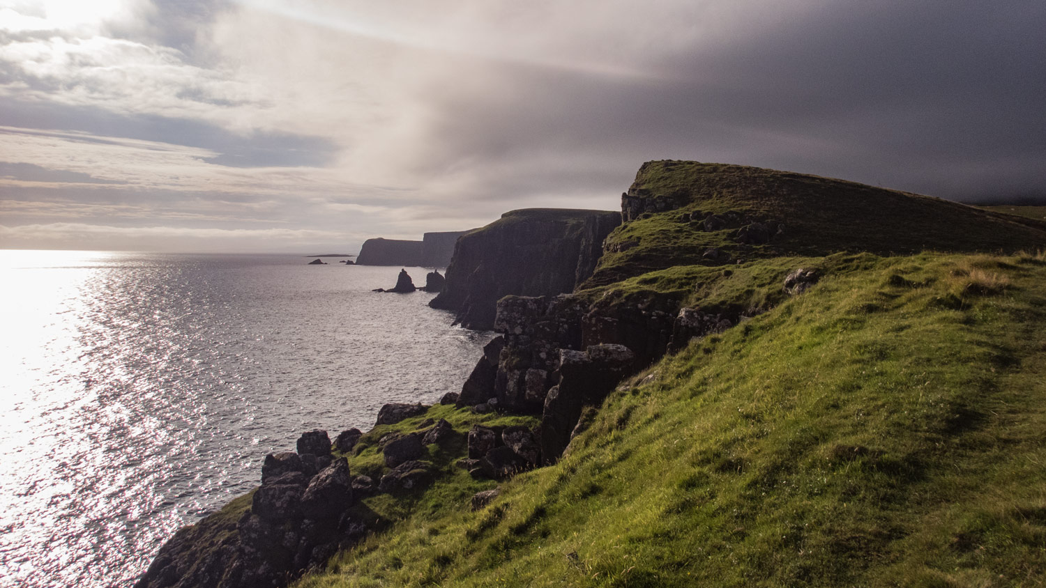 The cliffs on the north coast of Skye are a remarkable place to walk along.