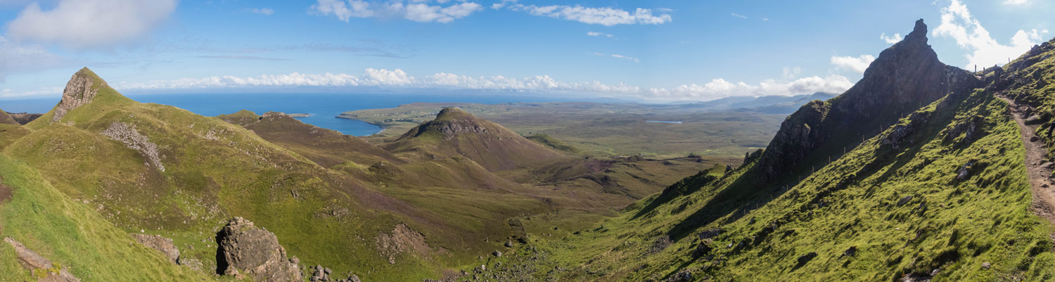 Looking out to Staffin from the Quiraing.