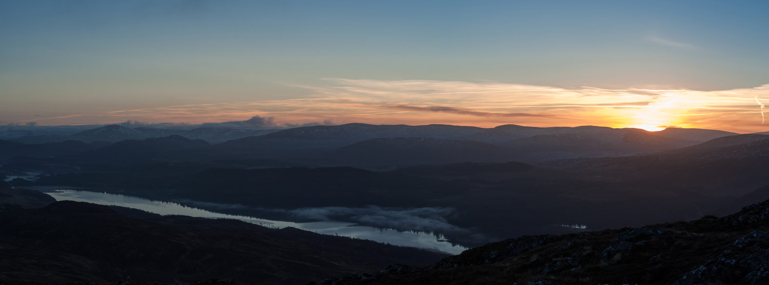 Sunrise over Loch Laggan.