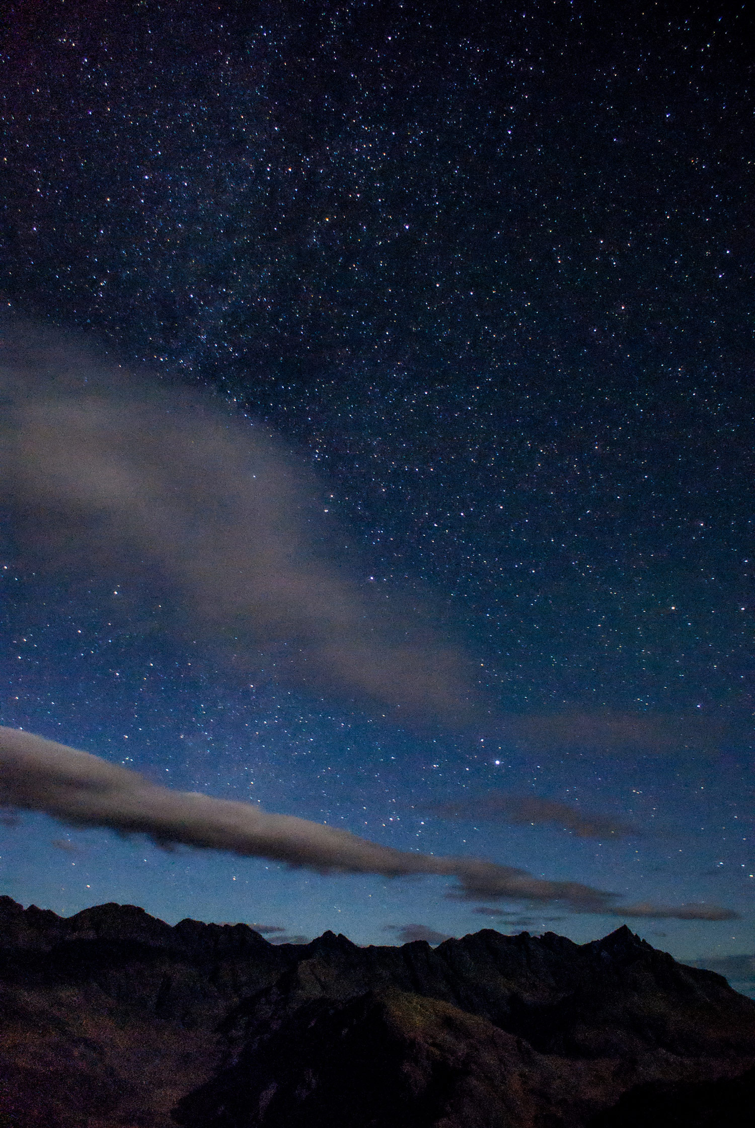 A first attempt at photographing the night sky over the Cuillin.