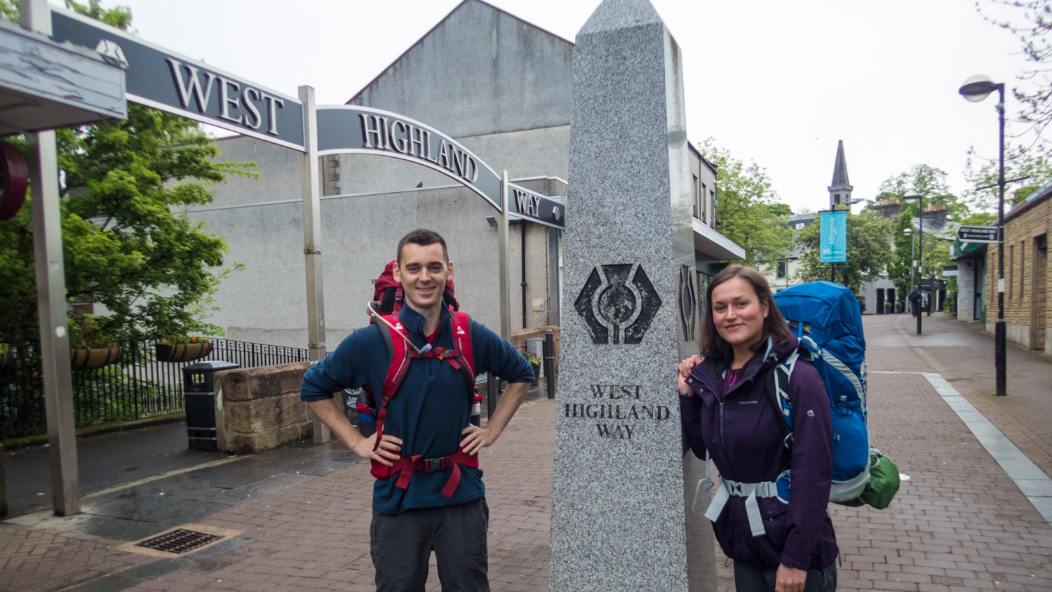 Smiles all around as we're ready to start the West Highland Way.