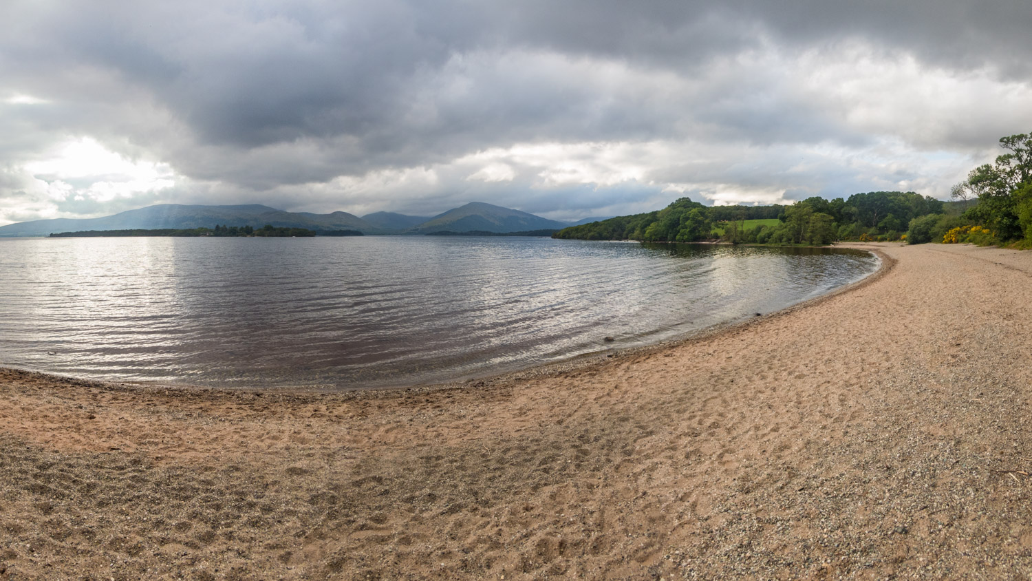 If it wasn't for the camping ban, this would have been a beautiful place to spend the night on the shores of Loch Lomond.