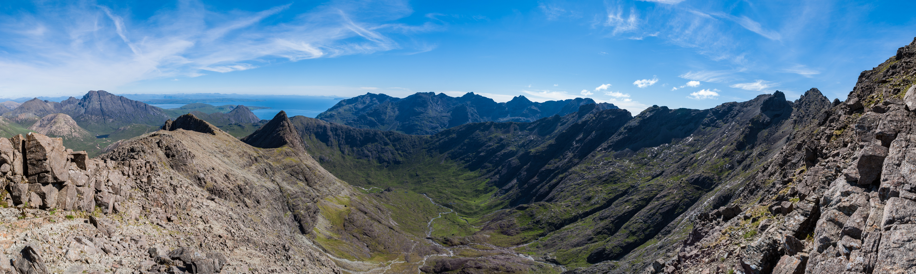 Our first view of the surrounding Cuillin after reaching the ridge.