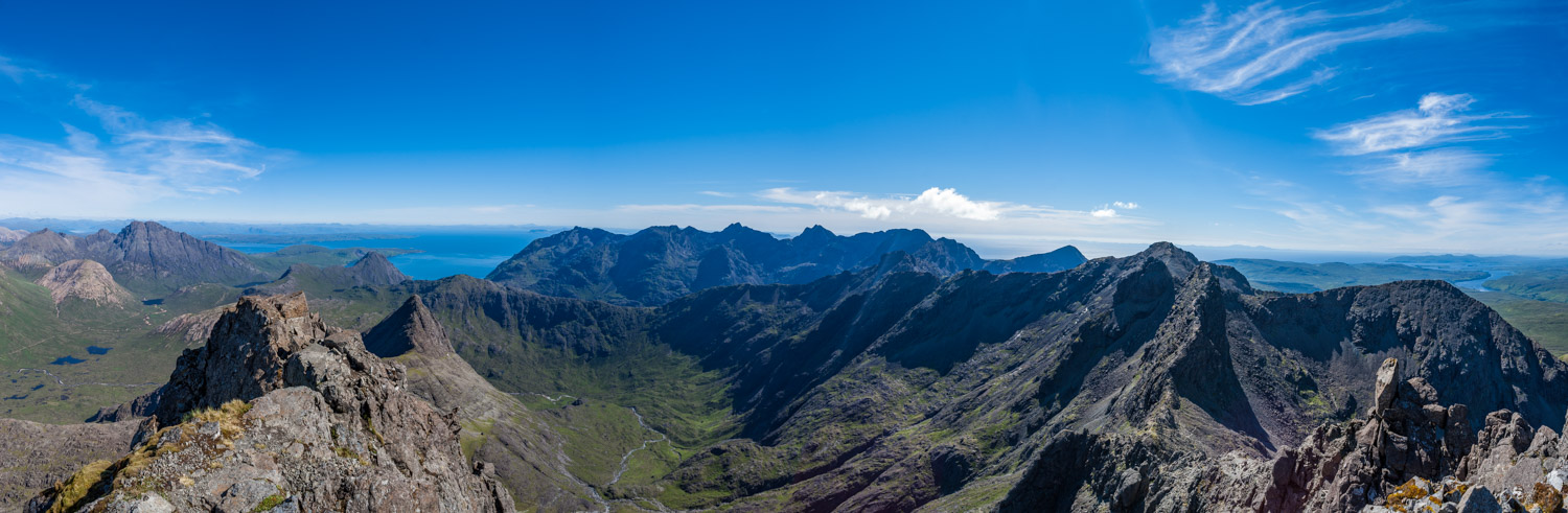 The Cuillin in all it's glory from Sgurr nan Gillean summit.