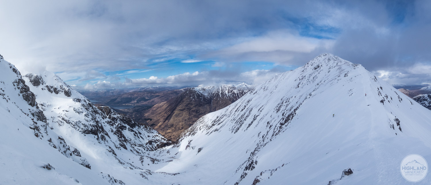 The view up towards Stob Coire nan Lochan from the bealach was worth the effort.